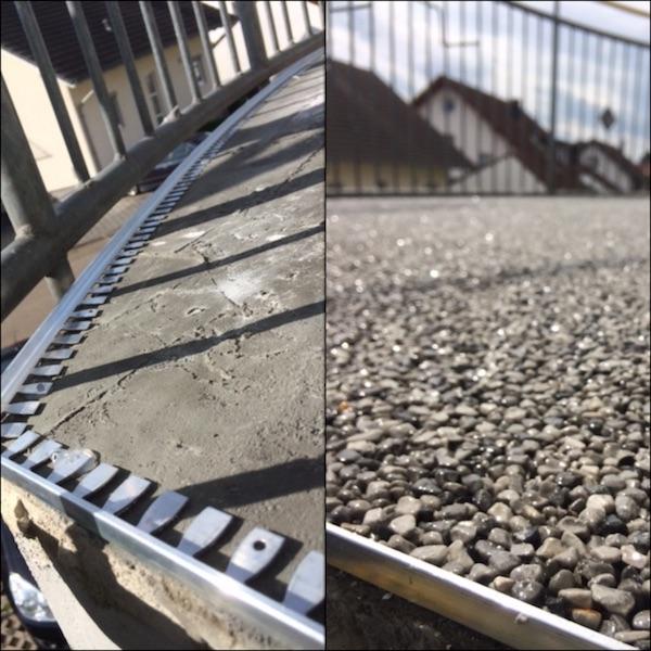 Balkonbeschichtung Steinteppich Vorhher Nachher
