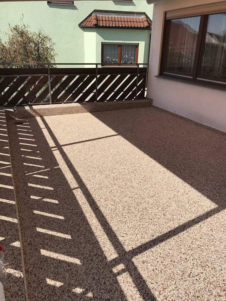 Steinteppich Balkon