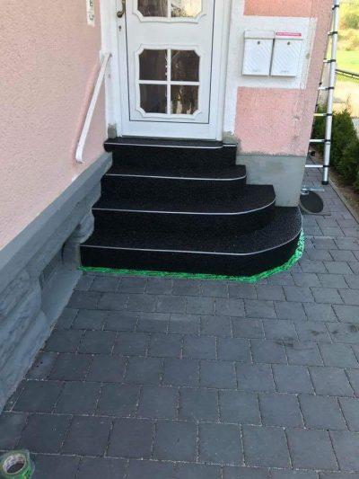 Steinteppich Treppe Schwarz